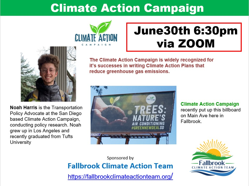 Climate Action Campaign flyer